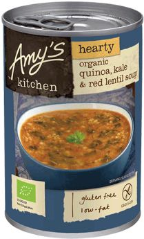 Amy's Kitchen Organic Quinoa Kale and Red Lentil Soup 408g x6