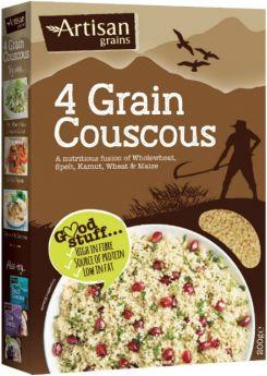 Artisan Four Grain Couscous (Wholewheat, Spelt, Maize and Kamut Grains) 1.5kg x3