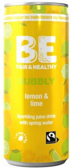 Be Bubbly Lemon and Lime Drink 250ml x24