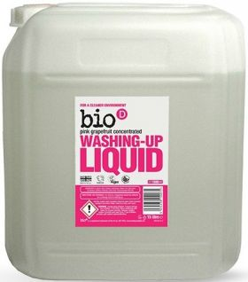 Bio-D Pink Grapefruit Washing-up Liquid (Concentrated) 5L x4