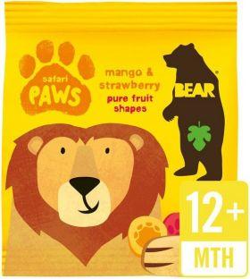 Bear Pure Fruit Mango and Strawberry Safari Paws 20g x18