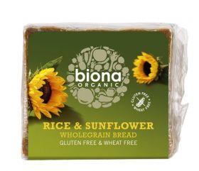Biona Org Gluten Free Rice & Sunflower seed Bread 500g x6