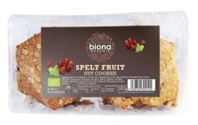 Biona Organic Spelt /Fruit & Nut Cookies 240g x6