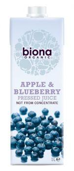 Biona Organic Apple & Blueberry Juice 1ltr x6