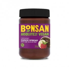 Bonsan Organic Plain Choco Spread - Vegan 350gx6
