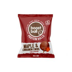 Boostball Maple and Cinnamon Roll Protein Balls 45g x12