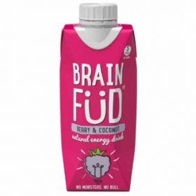 Brain Fud- Natural Energy Drink- Berry & Coconut 12x330ml
