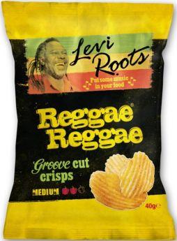 Burts Levi Roots Reggae Reggae Hand-Cooked British Potato Chips 40g x20