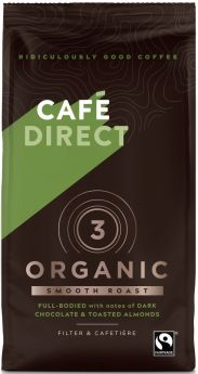 Caf?direct Fair Trade & Organic Smooth Roast & Ground Coffee (*Strength 3) 227g x6
