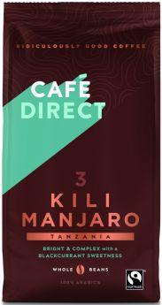 Caf?direct Fair Trade & Organic Kilimanjaro Tanzania Coffee Beans 227g x6