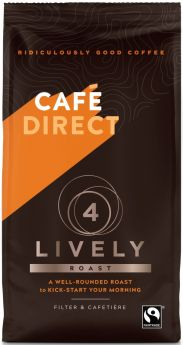 Caf?direct Fair Trade Lively Roast Ground Coffee 227g x 6