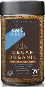 Caf?direct Fair Trade & Organic Decaf Freeze Dried Instant Coffee (*Strength 3) 100g x6