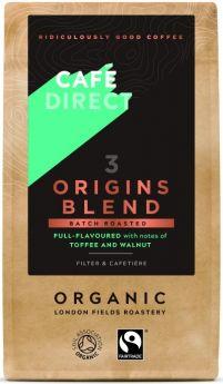 Caf?direct Fair Trade & Organic Origins Blend Roast Ground Coffee 227g x6