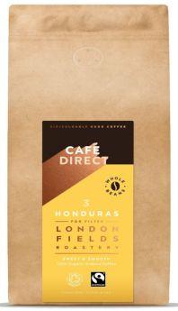 Cafedirect FT Organic LF Honduras Whole Beans 6x1kg