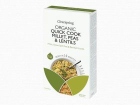 Clearspring Quick Cook Organic Millet, Peas & Lentils 250g x 8