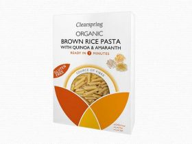 Clearspring Organic GF Brown Rice Pasta with Quinoa & Amaranth - Penne 250g x 8