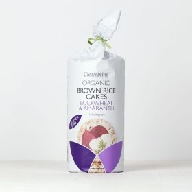 Clearspring Organic Brown Rice Cakes - Buckwheat & Amaranth 6 x120g