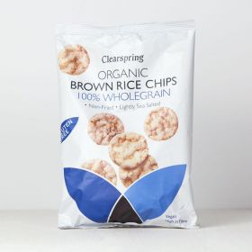 Clearspring Organic Brown Rice Chips - 100% Wholegrain 8 x60g