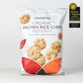 Clearspring Organic Brown Rice Chips - Red Lentil 8 x60g