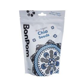 BonPom Raw Organic Chia Seeds 1 x400g