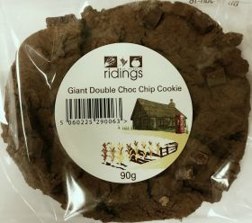 Ridings Giant Double Chocolate Chip Cookie 90g x12