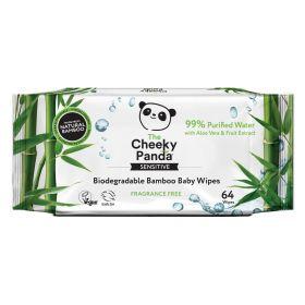 Cheeky Panda Biodegradable Bamboo Baby Wipes 64's x24