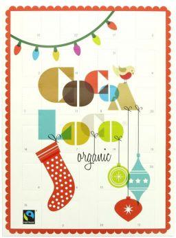 Cocoa Loco Fair Trade & Organic Handmade Dark Chocolate Advent Calendar 200g x4