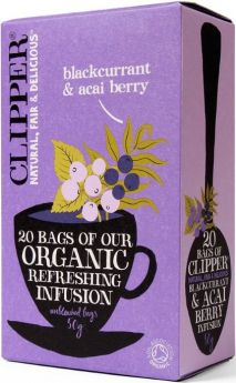 Clipper Fair Trade Organic Infusion Blackcurrant & Acai Berry Teabags (6x20's)