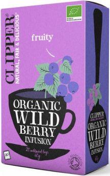Clipper Fair Trade Organic Infusion Wild Berry Teabags (6x20's)