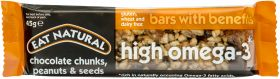 Eat Natural Omega 3  Choc Chunks Peanuts & Seeds 45g x12