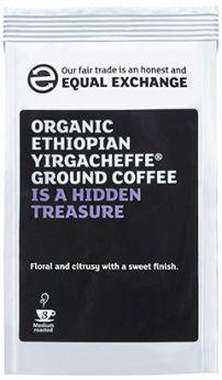 Equal Exchange Organic Ethiopian Yirgacheffe Roast & Ground Coffee 227g x8