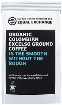 Equal Exchange Organic Colombian Excelso Roast & Ground Coffee 227g x8