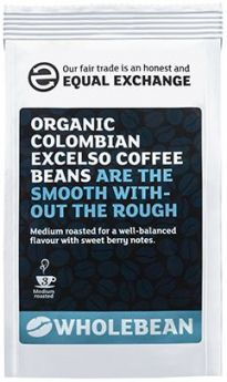 Equal Exchange Organic Colombian Excelso Coffee Beans 227g x8