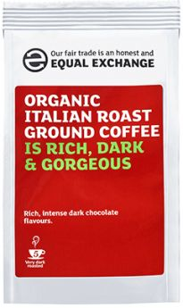 Equal Exchange Fair Trade Modern blends Italian Roast & Ground (6x227g)