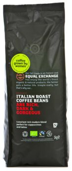 Equal Exchange Fairtrade Organic Italian Blend Whole Beans 6x1kg