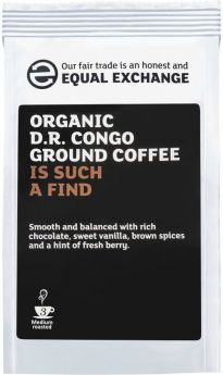 Equal Exchange Organic D.R. Congo (Democratic Republic) Roast & Ground Coffee 227g x8