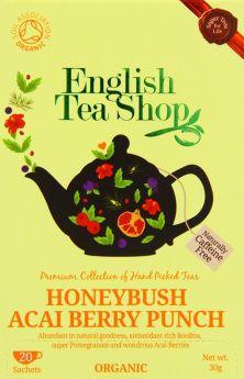 English Tea Shop Organic Honeybush Acai Berry Punch Tea 30g (20's) x6