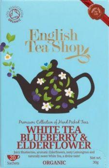 English Tea Shop Organic Blueberry and Elderflower White Tea 30g (20's) x6
