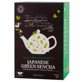 English Tea Shop Organic Japanese Green Sencha 40g (20's) x6