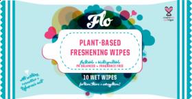 Flo plant-based Flushable Freshening Wipes (10 wipes, travel pack)