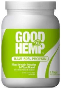 Good Hemp Raw 50% Plant Protein Powder and Fibre Boost 500g x4
