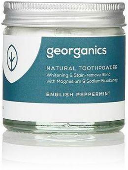 Georganics English Peppermint Natural Toothpowder 60ml x10