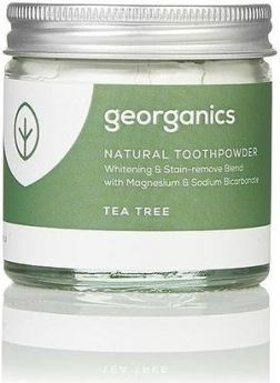Georganics Tea Tree Natural Toothpowder 60ml x10