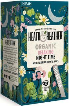 Heath & Heather Organic Morning Time - Guarana and Ginseng Enveloped Tea Bags 30g (20's) x6