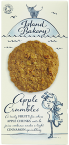 Island Bakery Apple Crumbles Organic Biscuit 150g x12