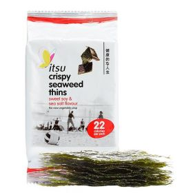 Itsu Sweet Soy and Sea Salt Seaweed Thins 18x5g