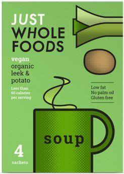Just Wholefoods Organic Tomato and Basil Soup Mix 17g (4's) x8