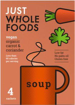 Just Wholefoods Organic  Leek and Potato Soup Mix 17g (4's) x8