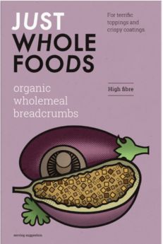 Just Wholefoods Wholemeal Breadcrumbs 175g x6
