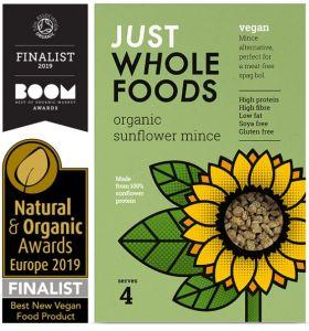 Just Wholefoods Organic Vegan Sunflower Mince 6 x 72g